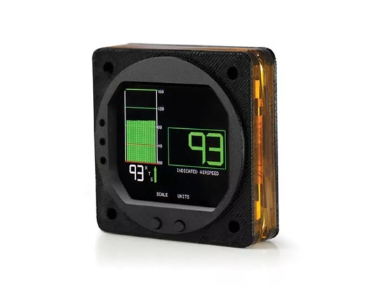 The Universal Airspeed Indicator presents airspeed with a large digital readout, a historic trend and bar graph.