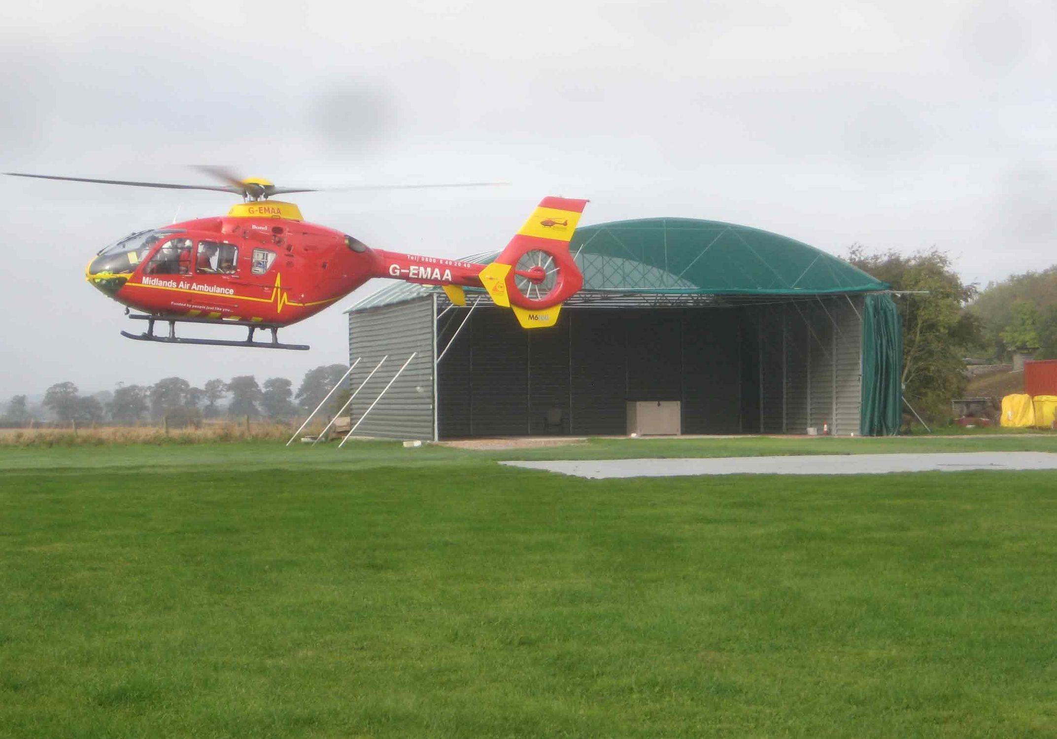 Elicottero R66 : Hangar per elicottero temporaneo per aeroporto mcgregor hangars