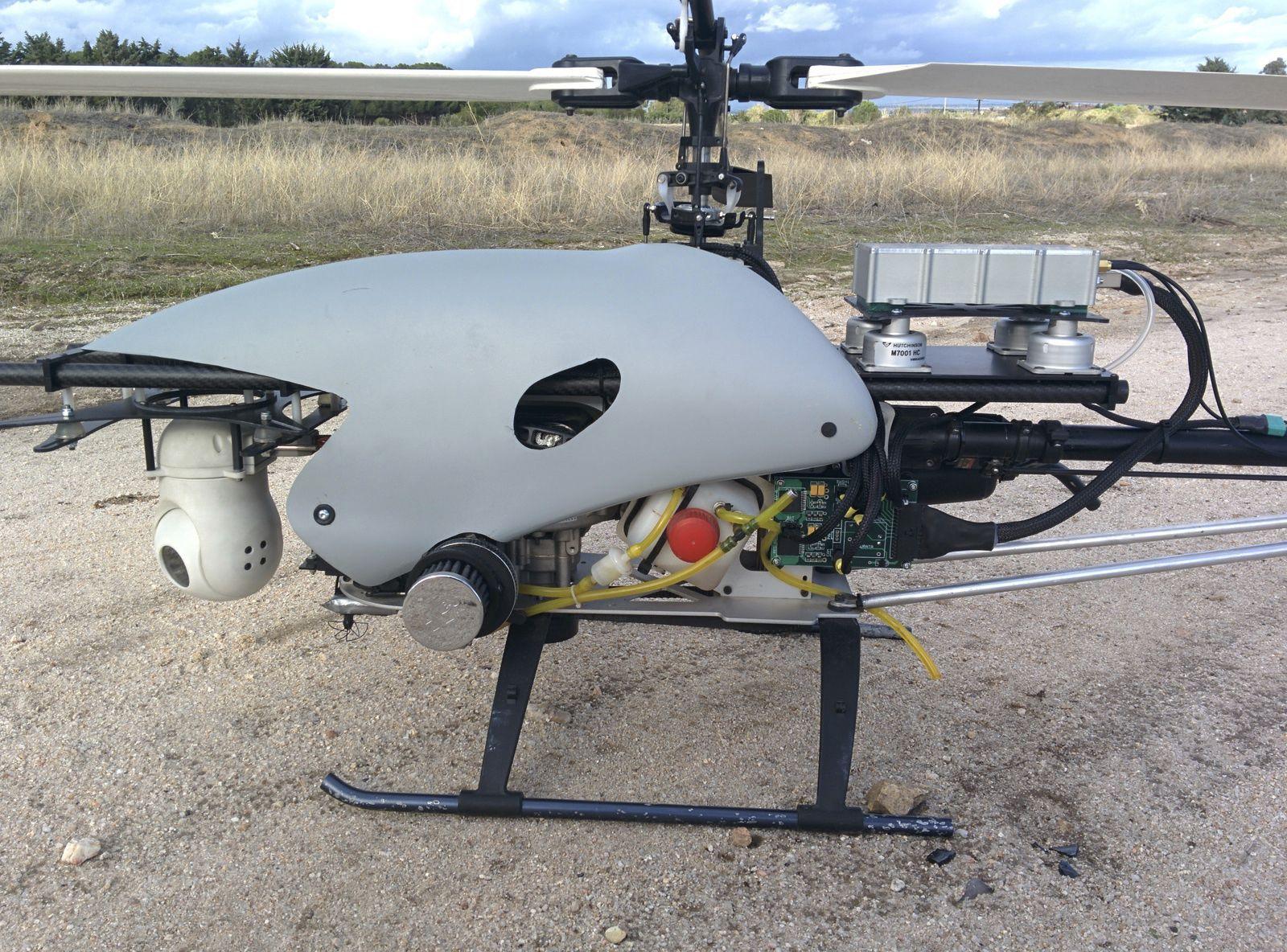 Elicottero Usato : Drone agricolo elicottero con motore a pistoni benzine kit