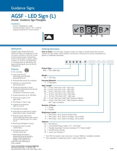 AGSF-LED Sign (L)