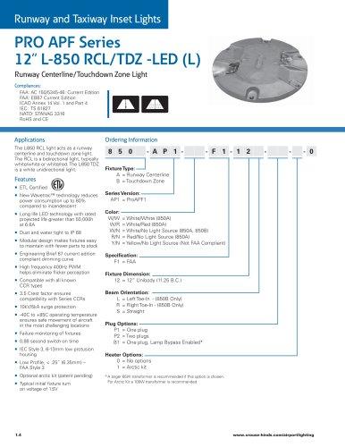 """PRO APF Series   12"""" L-850 RCL/TDZ -LED (L)"""