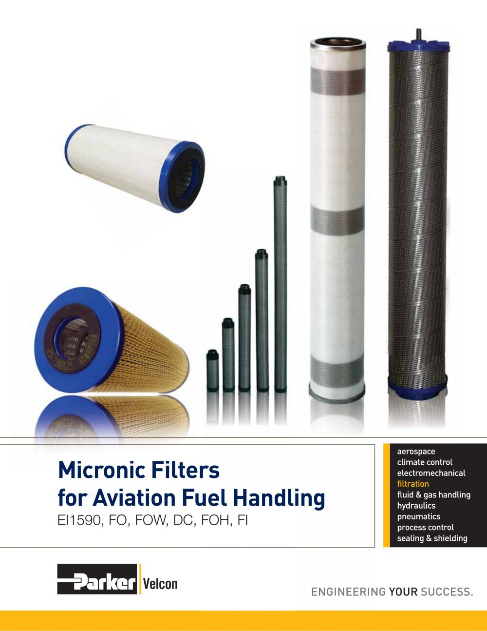 Vel2159 Pre Filter Microfilters Parker Hannifin Group Velcon Facet Fuel Filters 1 16 Pages
