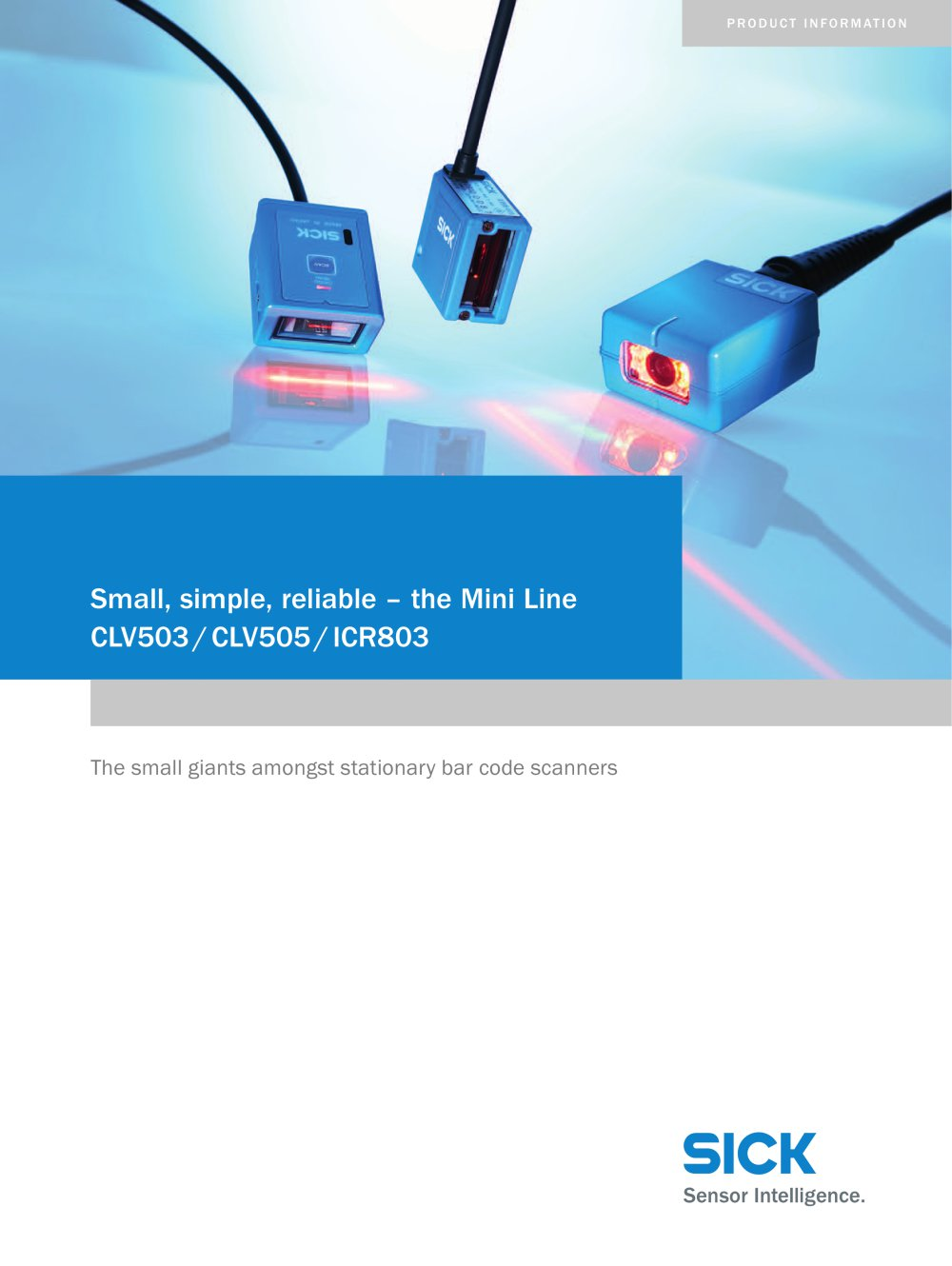 Small Simple Reliable The Mini Line Clv503 Clv505 Icr803 Sick Photoelectric Switch Wiring Diagram 1 16 Pages