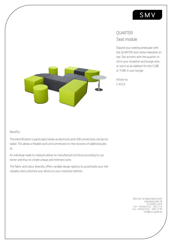 Quarterc 4123 Smv Sitz Objektmbel Gmbh Pdf Catalogue Usb Wiring Diagram 1 2 Pages