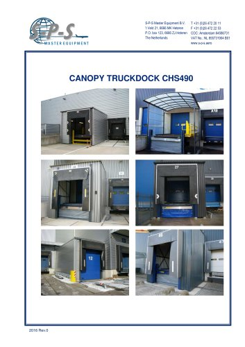 CANOPY TRUCKDOCK CHS490 - 1 / 1 Pages  sc 1 st  Catalogs Aeroexpo & CANOPY TRUCKDOCK CHS490 - S-P-S BV - PDF Catalogs | Technical ...