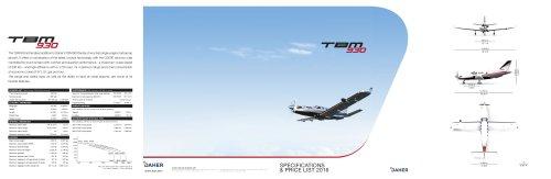 2016 TBM-930 SpecsPriceList