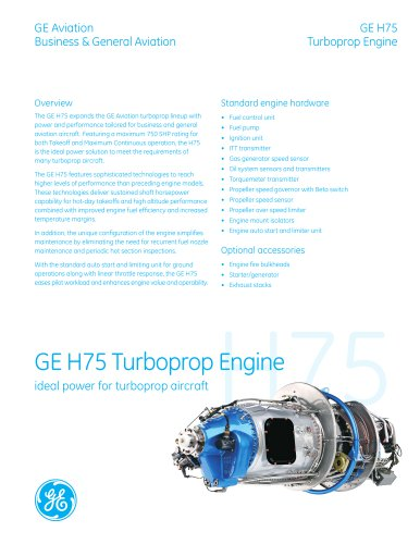 GE H75 Turboprop Engine