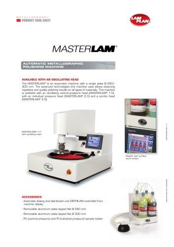 Machine polissage échantillons métallographiques MASTERLAM (EN)