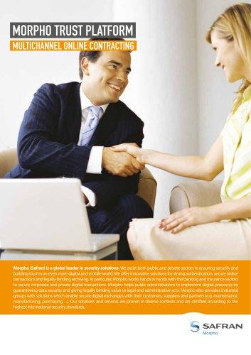 Morpho Trust Platform: Secure online contracting solution