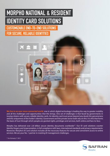 MorphoPersoSafran - national & resident identity cards solutions
