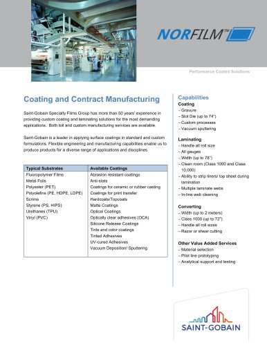 Coating and Contract Manufacturing