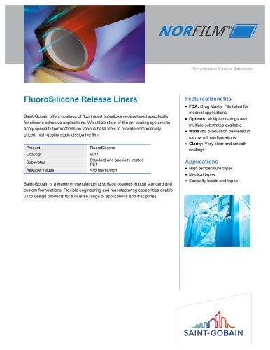 FluoroSilicone Release Liners