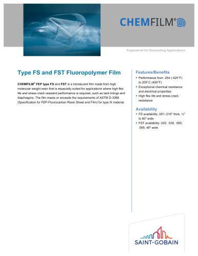 Type FS and FST Fluoropolymer Film