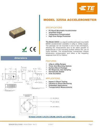 MODEL 3255A ACCELEROMETER