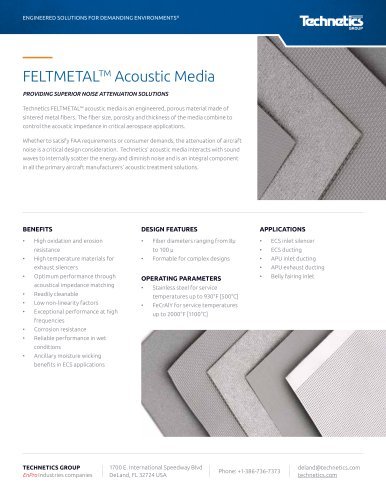 FELTMETALTM Acoustic Media