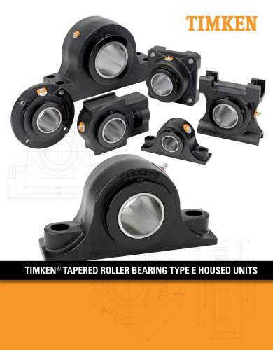 Timken® Tapered Roller Bearing Type E Housed Units
