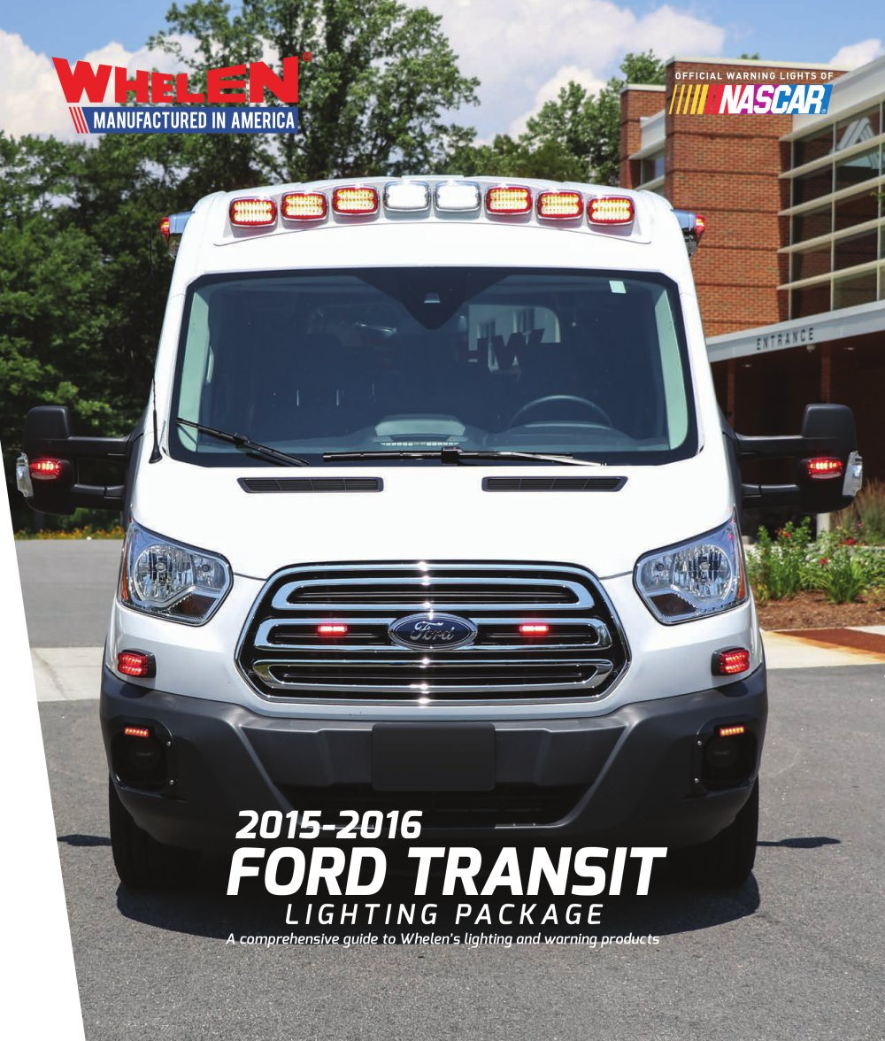 ford transit lighting package whelen pdf catalogue technical