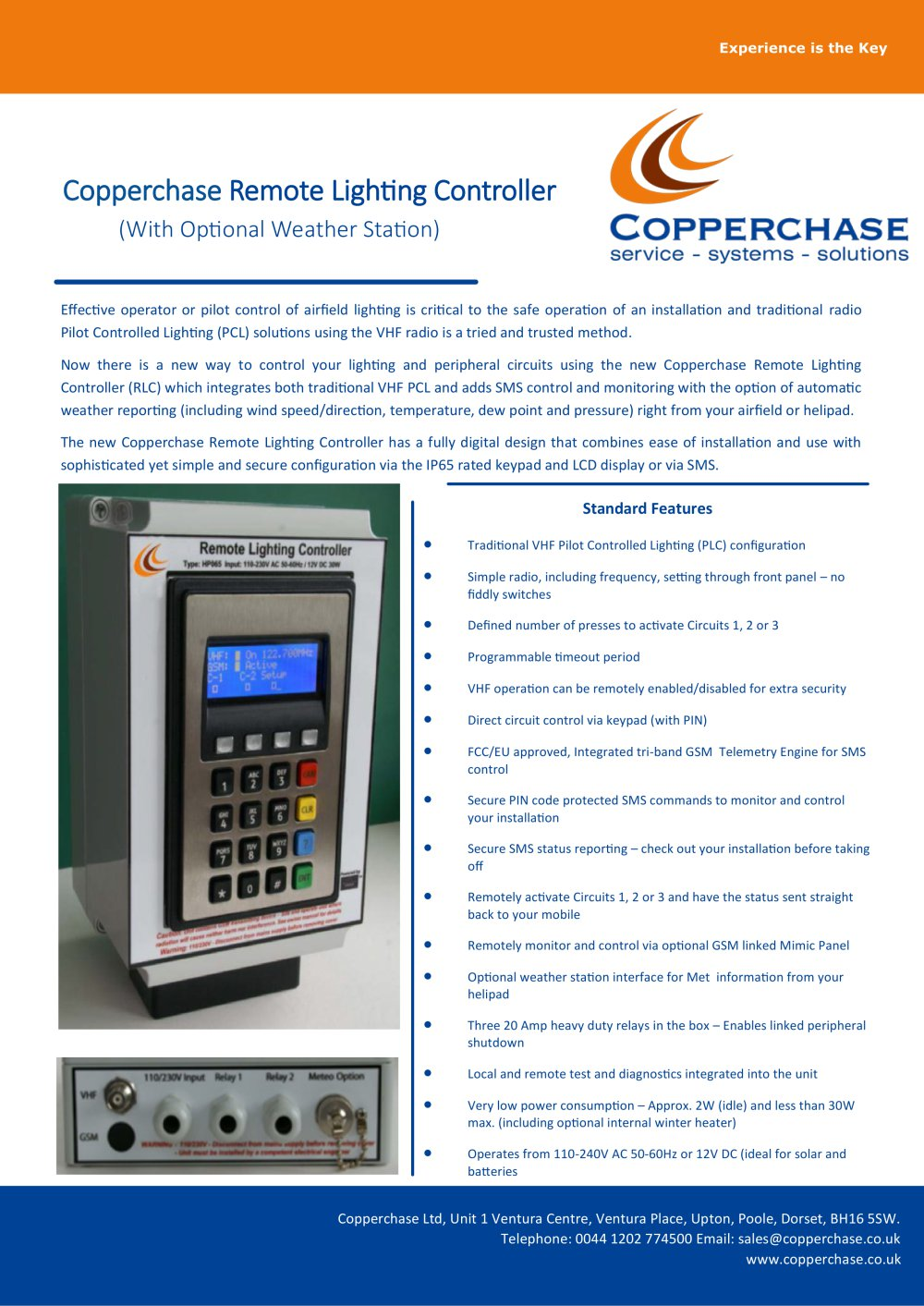 Copperchase Remote Lighting Controller   1 / 3 Pages