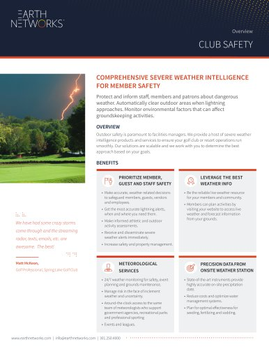 Comprehensive Severe Weather Intelligence For Member Safety