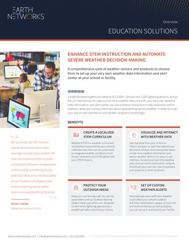 ENHANCE STEM INSTRUCTION AND AUTOMATE SEVERE WEATHER DECISION-MAKING