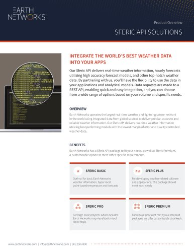 Product Overview: Sferic API Solutions