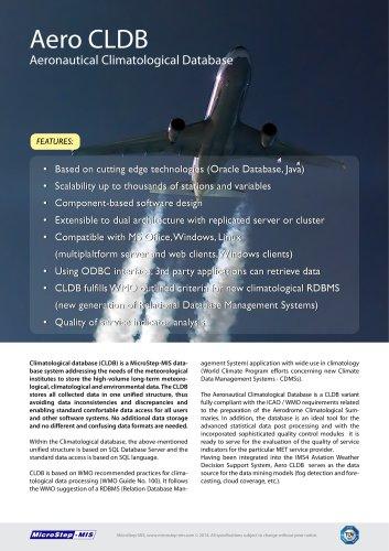 Aeronautical Climatological Database - MICROSTEP-MIS - PDF