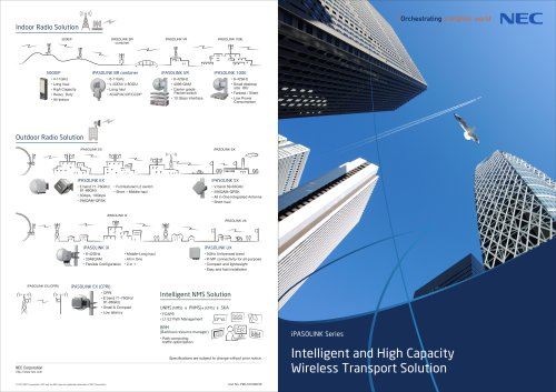 Intelligent and High Capacity Wireless Transport Solution