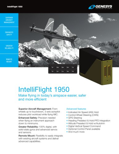 IntelliFlight 1950 Digital Flight Control System