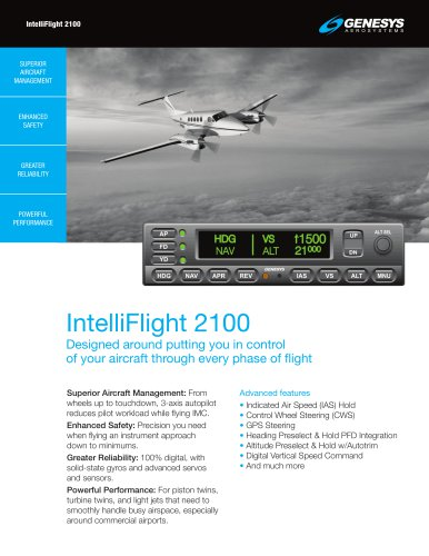 IntelliFlight 2100