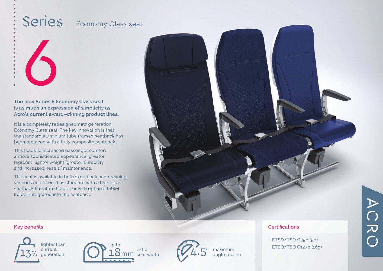 Series 6 Datasheet Acro Aircraft Seating Pdf Catalogs