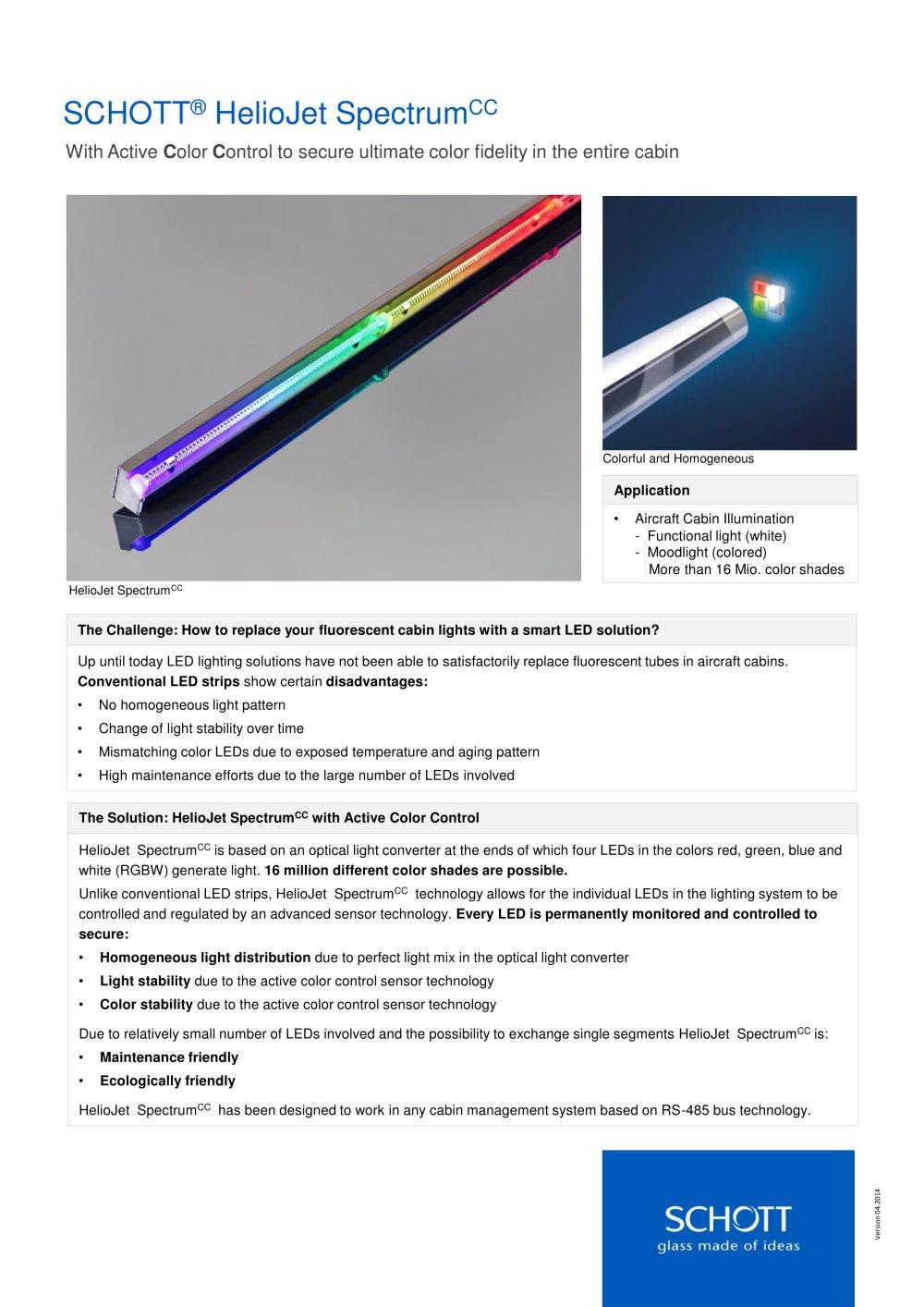 Schott Heliojet Spectrum Cc Schott Ag Pdf Catalogs Technical