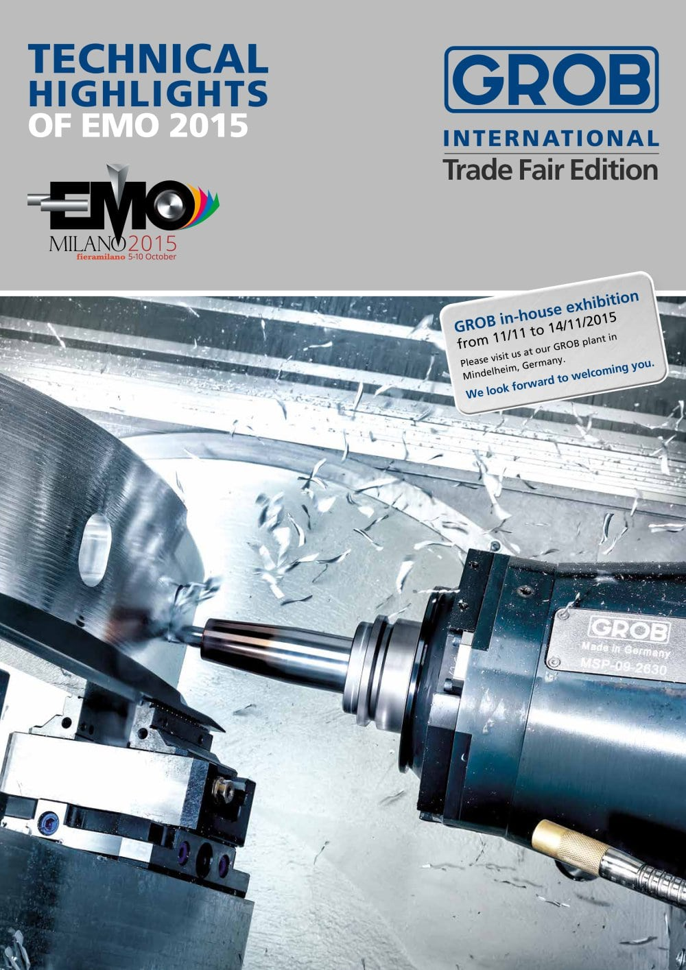TECHNICAL HIGHLIGHTS OF EMO 2015 - Grob Machine Tools - PDF ...