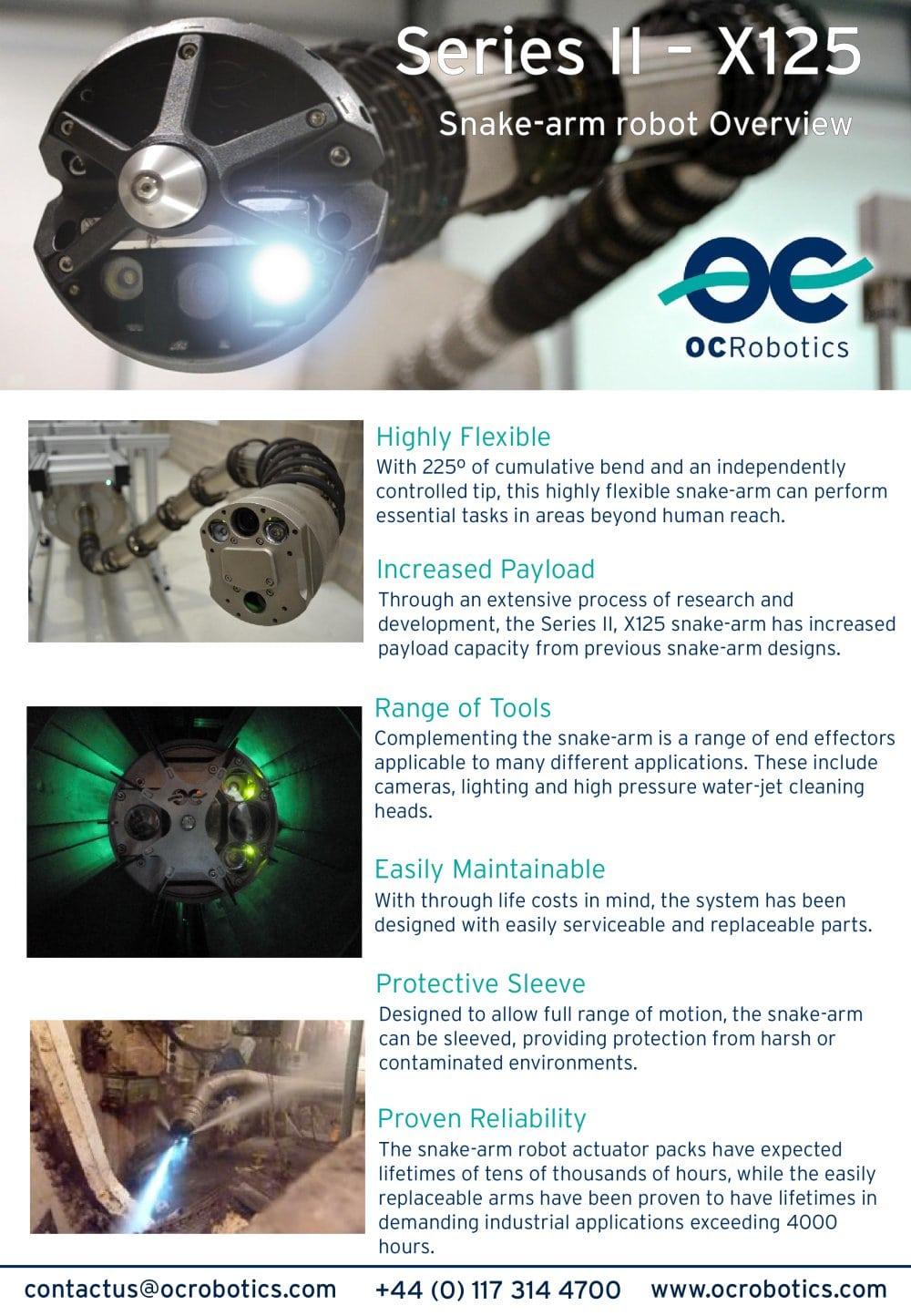Series Ii X125 System Oc Robotics Pdf Catalogue Technical