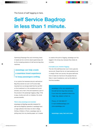 Self Service Bagdrop in less than 1 minute