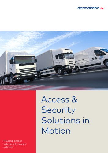 Access & Security Solutions in Motion