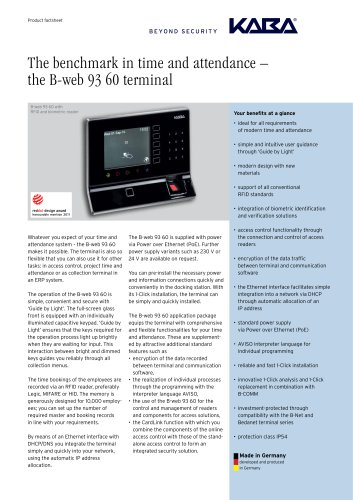 B-web 93 60 - Product factsheet