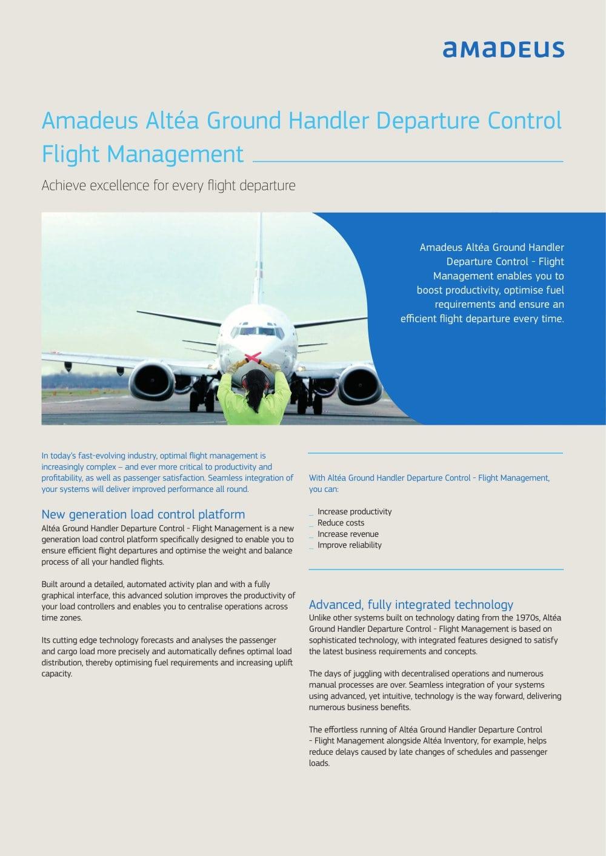 Altea departure control system manual