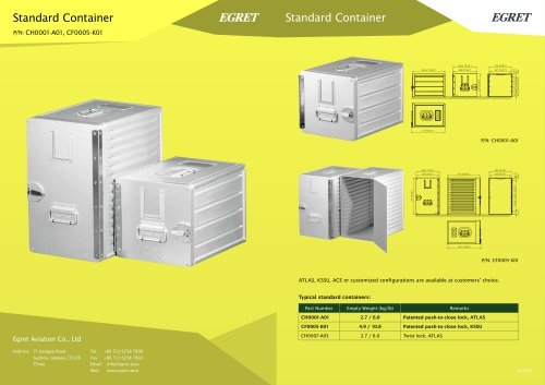 KSSU Standard Container (Slam Lock)