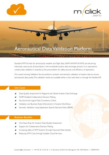 Aeronautical Data Validation Platform