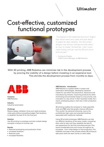 Cost-effective, customized  functional prototypes