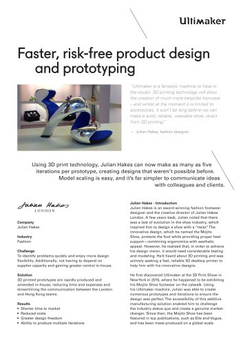 Faster, risk-free product design and prototyping