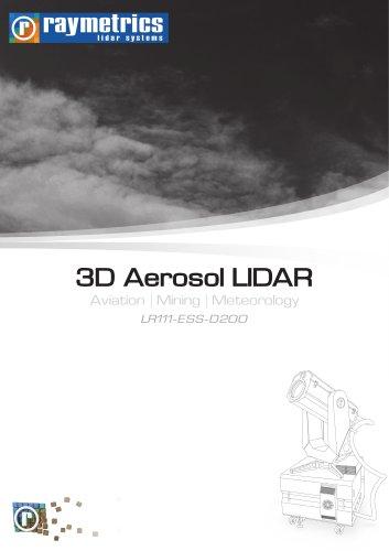 3D Aerosol LIDAR