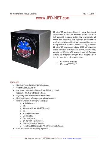 IFD-microNET EFIS