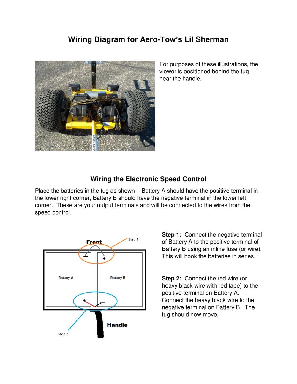 Wiring Diagram for Aero-Tow's Lil Sherman - 1 / 3 Pages
