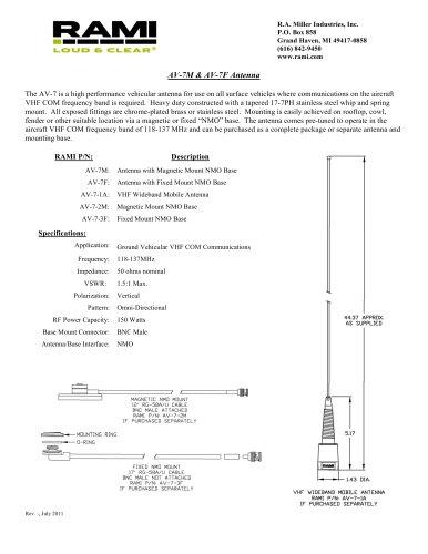 AV-7M & AV-7F Antenna