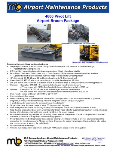 4600 Pivot Lift Broom Package