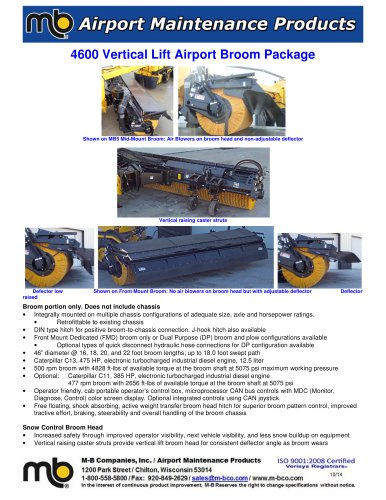 4600 Vertical Lift Broom Package