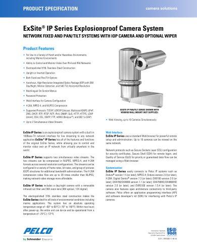 ExSite ®  IP Series Explosionproof Camera System
