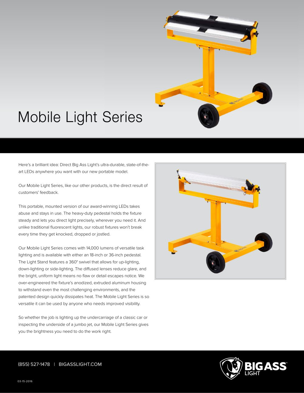 Mobile light technical specifications 2 pages