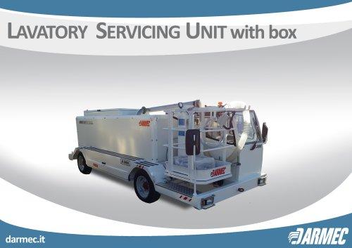 LAVATORY SERVICING UNIT WITH BOX